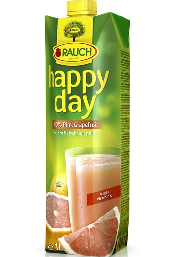 Rauch Happy Day Růžový grep 1l